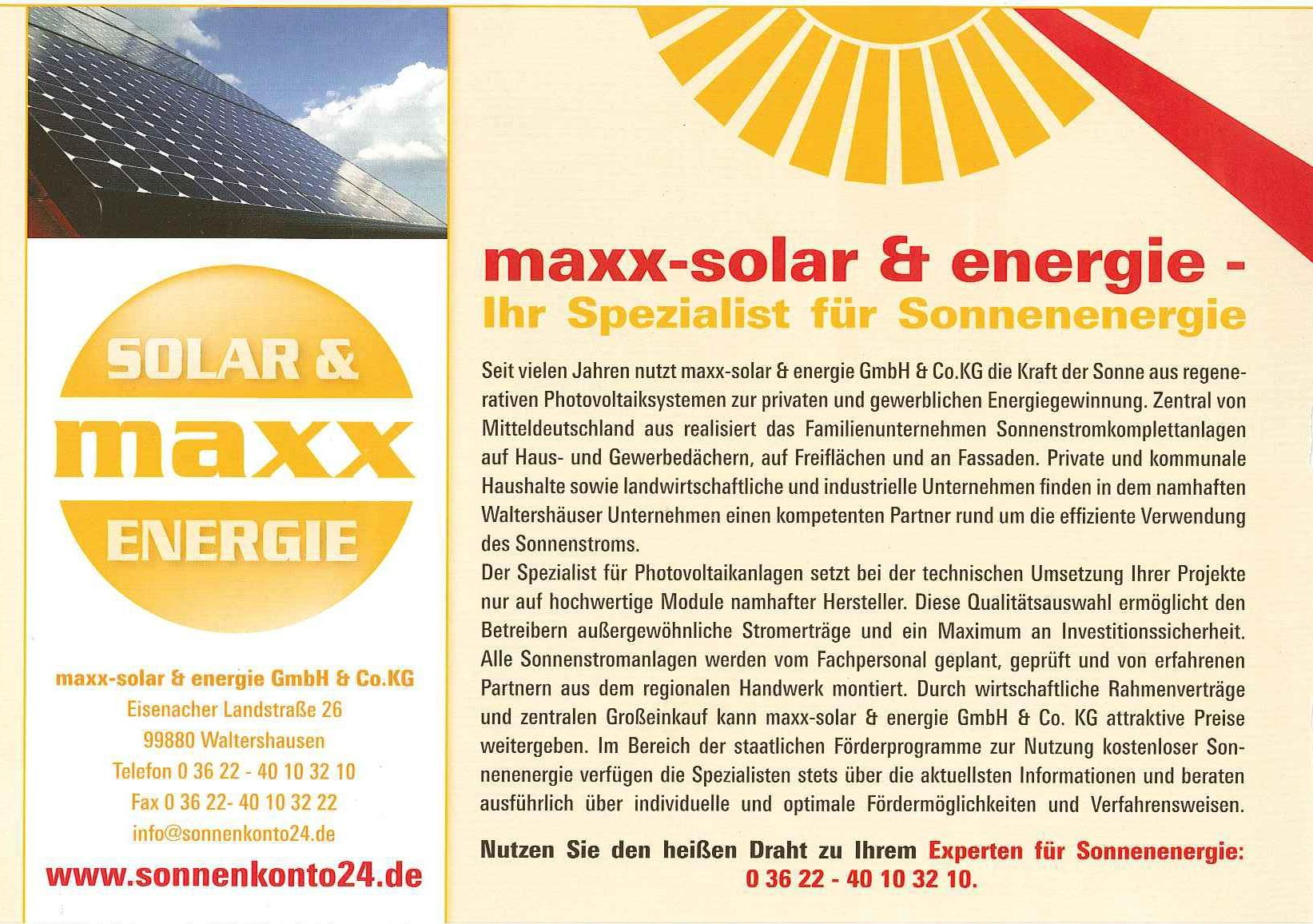 pressespiegel archive seite 4 von 6 maxx solar. Black Bedroom Furniture Sets. Home Design Ideas