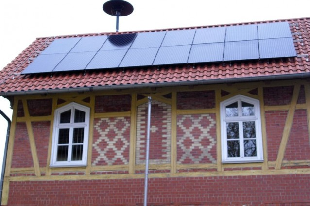 BenQ Green Triplex PM250M01 mit Solar Edge in Anrode, Unstrut-Hainich-Kreis Westseite