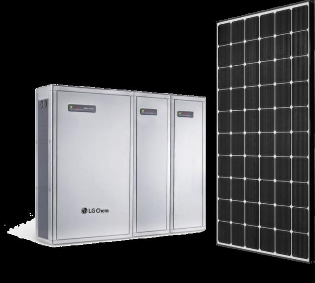 LG Batteriespeichersystem mit Solarmodulen von LG
