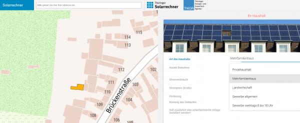 Solarrechner Thüringen Anzeige Detailbild