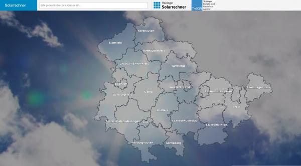 Solarrechner Thüringen Auswahl Landkreis