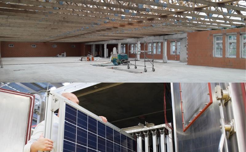 Baufortschritt maxx solar in Königsee