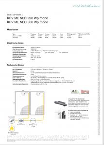 Stecker Solarmodul Datenblatt
