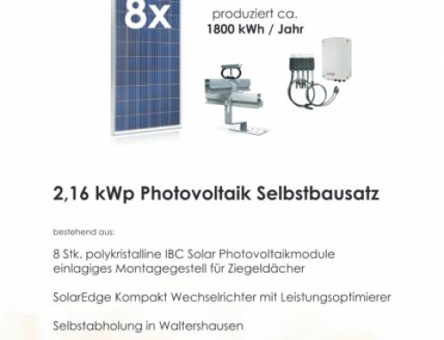 Bausatz Photovoltaikanlage