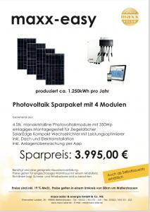 Bausatz Photovoltaik als maxx-easy einfach zuinstallieren