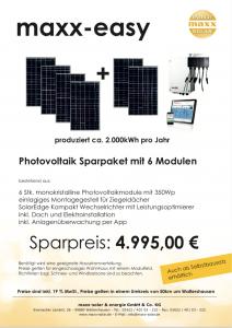 Bausatz Photovoltaikanlage maxx-easy