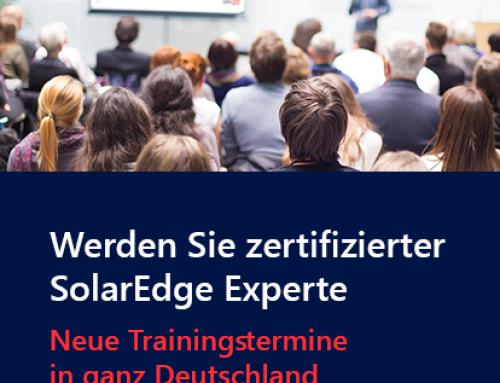 SolarEdge Aufbauschulungen in 11 deutschen Städten