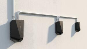 Easee drei Ladeboxen an einem Kabel. Wallboxen mit THG Quoten