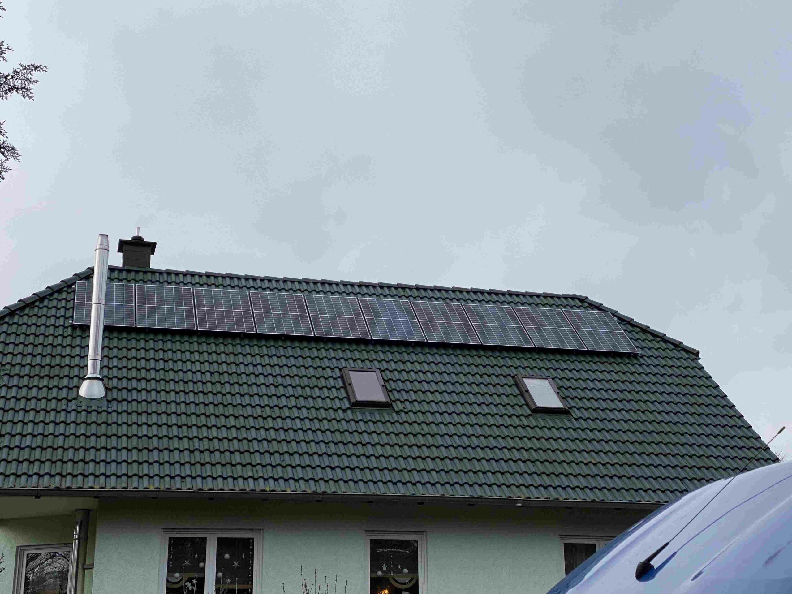Photovoltaikanlage Ost West im Wartburgkreis