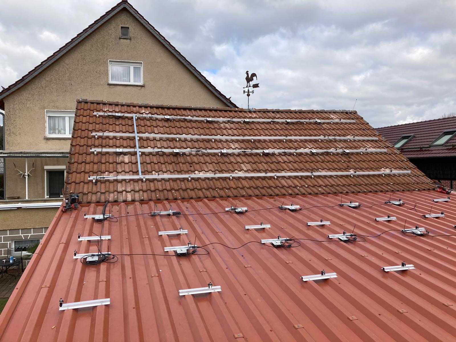 Solaranlage Wartburgkreis Thürigen Halterungen
